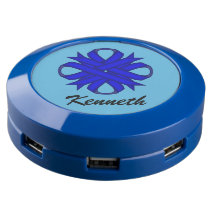 Blue Clover Ribbon USB Charging Station