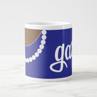 Blue Clutch Pearls and Gasp Jumbo Mug