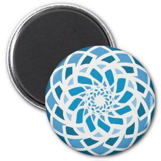 Blue Coastal Decor Decorative Round Magnet