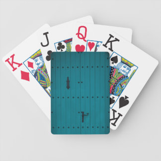 Blue Coastal Door from Costa Brava Spain Bicycle Playing Cards
