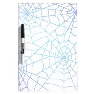 Blue Cobwebs Against a Full Moon Dry-Erase Board