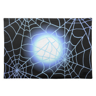 Blue Cobwebs Against a Full Moon Placemats