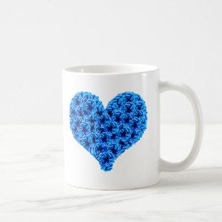Blue Cockades Heart Mug