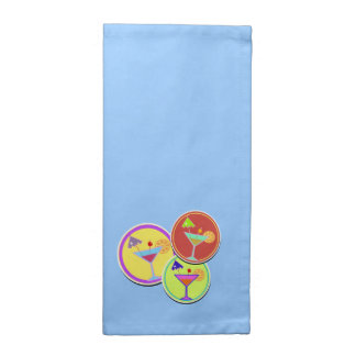 Blue Cockatil napkins -set of 4