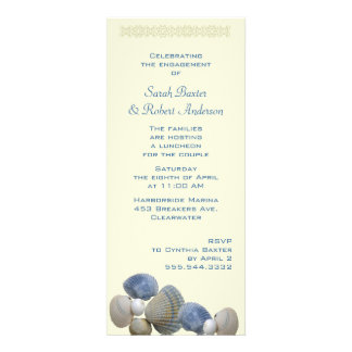 Blue Cockles Shower Invitations