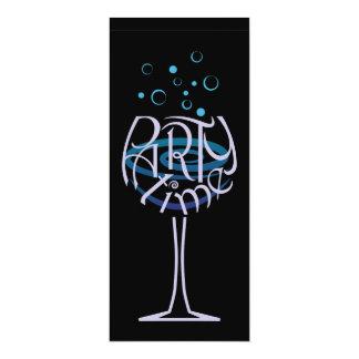Blue Cocktail Party invitation design