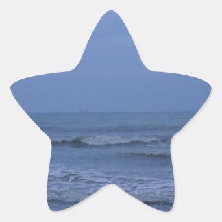 Blue Cocoa Star Sticker