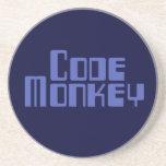 Blue Code Monkey Coaster