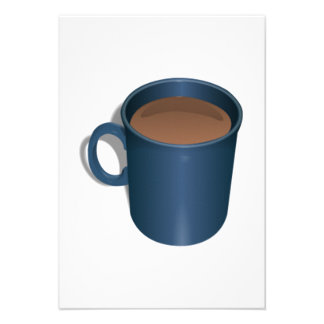Blue Coffee Cup Custom Announcements