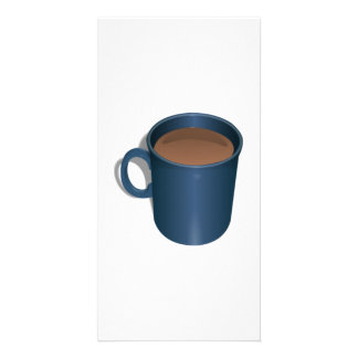 Blue Coffee Cup Picture Card