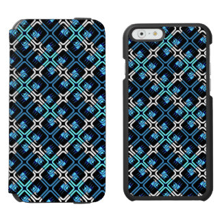Blue Coffee Cups Cafe Mugs Drinks Java Brew Design iPhone 6/6s Wallet Case