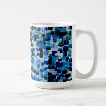 Coffee Themed Blue Coffee Mug