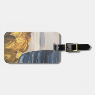 Blue Coffee Mug & Beans Luggage Tag