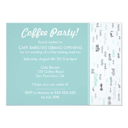 cafe opening quotes