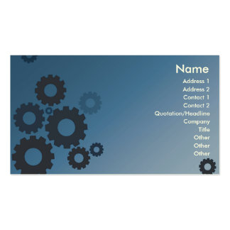 Blue Cogs - Business Double-Sided Standard Business Cards (Pack Of 100)