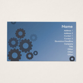 Blue Cogs - Business Business Card
