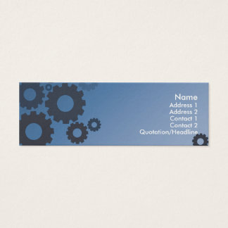 Blue Cogs - Skinny Mini Business Card
