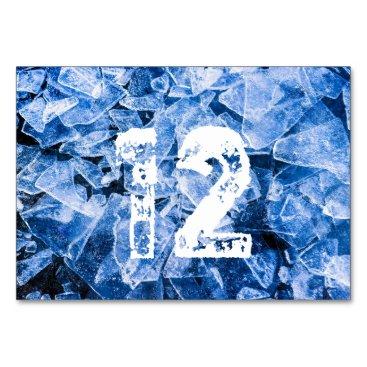 Beach Themed Blue cold ice card