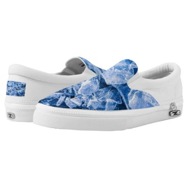 Beach Themed Blue Cold Ice Slip-On Sneakers