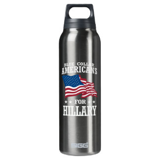 BLUE COLLAR AMERICANS FOR HILLARY THERMOS BOTTLE