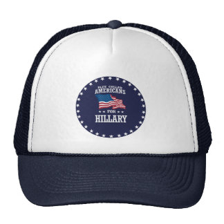 BLUE COLLAR AMERICANS FOR HILLARY TRUCKER HAT