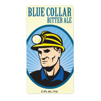 Blue Collar Bitter Ale Label