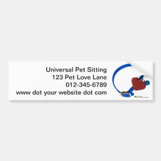 Blue Collar Red Heart Animal Love Bumper Sticker