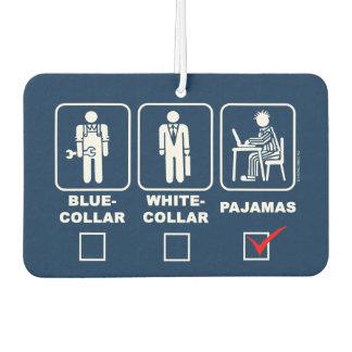 Blue-collar,white-collar or pajama car air freshener