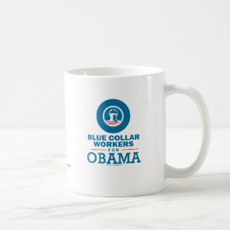 Blue Collar Workers for Obama Coffee Mugs