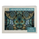 Blue Collection Abstract Fractal 2015 Calendar