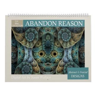 Blue Collection Abstract Fractal Calendar