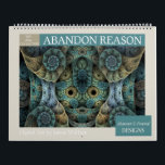 """Blue Collection Abstract Fractals 2019 Calendar<br><div class=""""desc"""">Wall calendar featuring twelve unique abstract fractal designs by Susan Wallace with blue as the predominant color. High quality images; suitable for framing.</div>"""