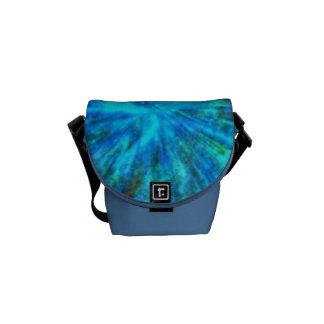 Blue Color Burst Messenger Bag