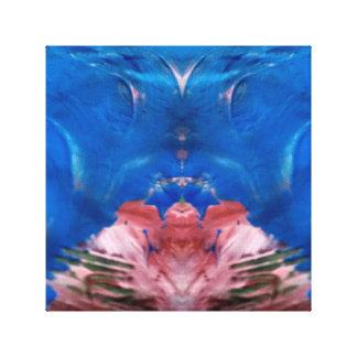 blue color canvas print