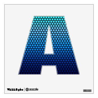 Blue Color Gradient Letters of the Alphabet Wall Sticker
