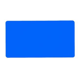 Blue Color Label