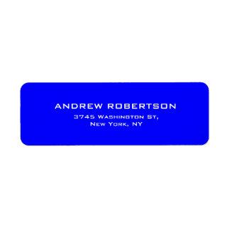 Blue Color Plain Elegant Contemporary Unique Label