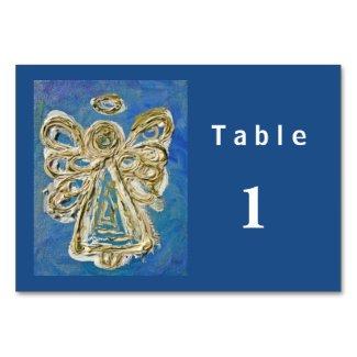 Blue Color Series Angel Custom Table Cards