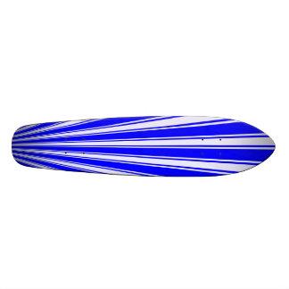 Blue Color Stripe Funky Pattern Skateboard Deck