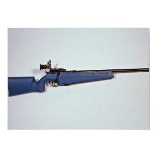 Blue color Target rifle 5x7 Paper Invitation Card