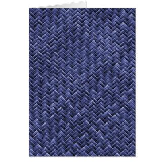 Blue Colored Basket weave Pattern Card