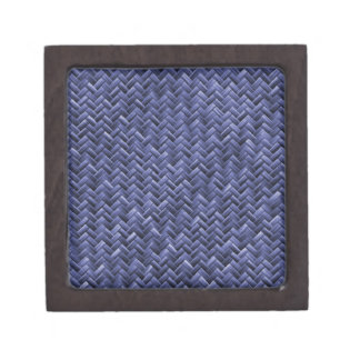 Blue Colored Basket weave Pattern Gift Box