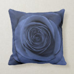 Blue Colored Rose, Gorgeous! Throw Pillow