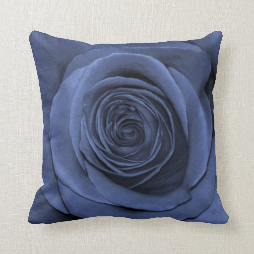 Blue Colored Rose, Gorgeous! Throw Pillow Zazzle