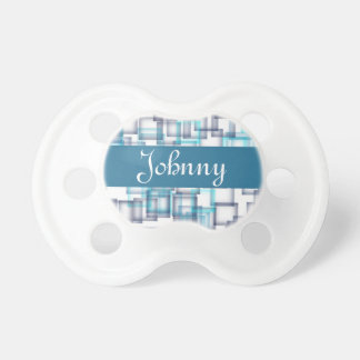 Blue Colored Squares BooginHead Pacifier