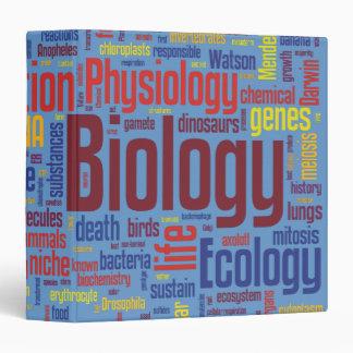 Blue & Colorful Biology Wordle Vinyl Binder