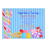 Blue Colorful Lots of Candy Sweet 16 Invitation