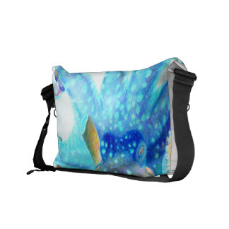 Blue colorful Octopus Messenger Bag