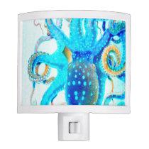 Blue colorful Octopus Night Light