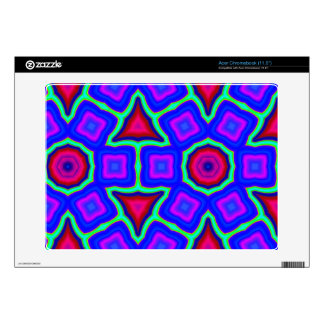 Blue colorful pattern acer chromebook decals